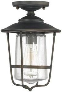 Capital Lighting Fixture Creekside 1-Light Outdoor Ceiling Fixture C9607