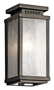 Kichler Lighting Manningham 75W 1-Light Medium Base Incandescent Extension Wall Sconce in Olde Bronze KK49384OZ