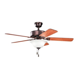 Kichler Lighting Renew Select Collection 5-Blade Ceiling Fan with Bowl Light Kit KK330110OBBU