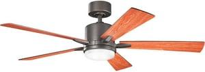 Kichler Lighting Lucien 52 in. 50W 5-Blade Ceiling Fan with Light Kit KK300176