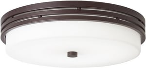 Kichler Lighting Ceiling Space 14 in. 22W 1-Light Flushmount LED Ceiling Fixture in Olde Bronze KK42380OZ