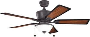 Kichler Lighting Cates 52 in. 5-Blade Ceiling Fan with Light Kit KK300162