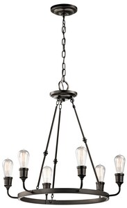 Kichler Lighting Lucien 100W 6-Light Medium Base Incandescent Chandelier KK42708