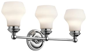 Kichler Lighting Currituck 100W 3-Light Bath Vanity Fixture KK45488