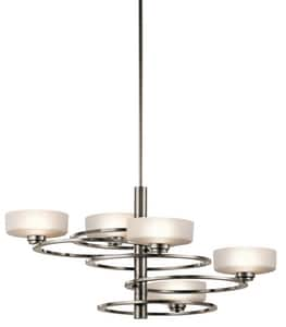Kichler Lighting Aleeka 50W 5-Light Double Loop Halogen Chandelier KK43365