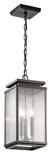 Kichler Lighting Manningham 60W 3-Light Candelabra Base Incandescent Extension Pendant KK49387