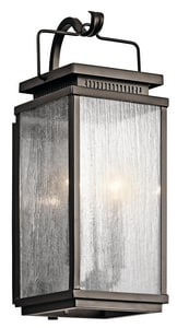 Kichler Lighting Manningham 60W 2-Light Outdoor Wall Fixture KK49385
