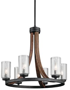 Kichler Lighting Grand Bank™ 60W 6-Light Candelabra Base Incandescent Chandelier KK43193