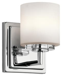 Kichler Lighting O Hara 50W 1-Light Double Loop Halogen Wall Sconce in Polished Chrome KK45500CH