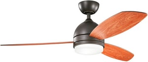 Kichler Lighting Vassar Collection 3-Blade Ceiling Fan KK300175