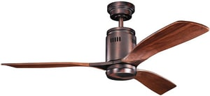 Kichler Lighting Ridley Collection 3-Blade Ceiling Fan KK300145