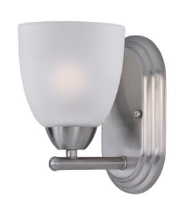 Maxim Lighting International Axis 8 in. 60W 1-Light Bath Vanity with Frosted Glass Shade M11311FT