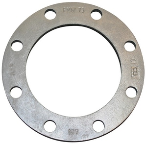 FNW IPS Galvanized Ductile Iron Back-Up Angled Face Ring Flange FNW73G