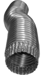 Deflecto 6 in. x 8 ft. Aluminum Semi-Rigid Flexible Air Duct DA068C4