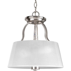 Progress Lighting Dazzle 13-7/16 x 14 in. Close-to-Ceiling Light in Brushed Nickel PP357209