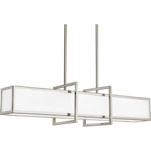 Progress Lighting Haven 100W 4-Light Medium Pendant in Brushed Nickel PP389809