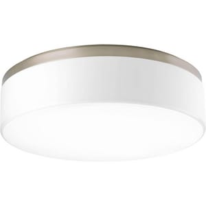 Progress Lighting Maier 18 in. 3-Light Close-to-Ceiling Fixture with Etched White Opal Glass Shade PP3675WB