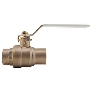 Watts Solder Brass Full Port Ball Valve with Lever Handle WLFFBVS4