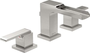 Delta Faucet Ara® 1.5 gpm Double Lever Handle Widespread Lavatory Faucet D3568LFMPU