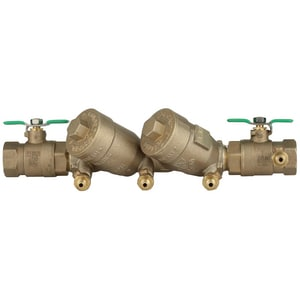 Wilkins Regulator 1 in. Threaded Double Check Valve Assembly Backflow Preventer W950XLT2FTG