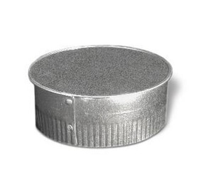 Lukjan Metal Products Galvanized Steel Spiral Cap SHMSPCAP26