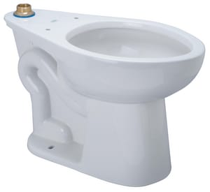 Zurn Industries EcoVantage® Elongated Floor Mount Toilet Bowl in White ZZ5665BWLBAAM