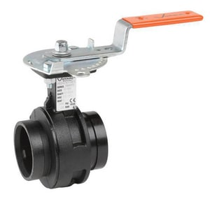 Victaulic MasterSeal™ 4 in. 300 psi Ductile Iron Butterfly Valve with Tee Handle VV040761STC-NR