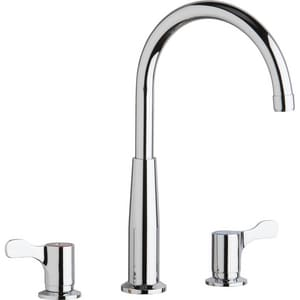 Elkay 3-Hole Flexible Concealed Deck Kitchen Faucet with Double Lever Handle and 7 in. Spout Reach ELKD232SC