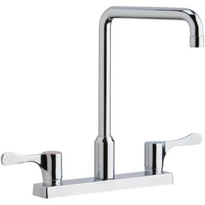 Elkay 3-Hole Kitchen Faucet with Double Lever Handle in Polished Chrome ELKD2442BHC