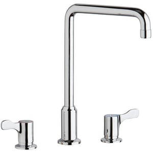Elkay 3-Hole Flexible Kitchen Faucet with Double Lever Handle and 8 in. Spout Reach ELKD2432C