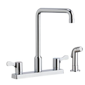 Elkay 4-Hole Kitchen Faucet with Double Lever Handle ELKD2443C