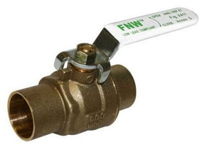 FNW 600# 2-Piece Brass Sweat Full Port Ball Valve FNWX411C
