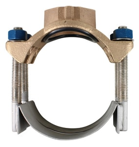 A.Y. McDonald 8 in. NPT Stainless Steel Double Strap Saddle M3856X