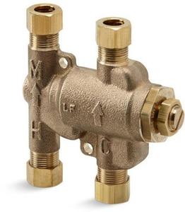 Kohler 3-3/16 in. Brass Undercounter Thermostatic Mixing Valve K99799-NA