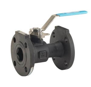 Milwaukee Valve Carbon Steel Flanged Regular Port Ball Valve with Locking Lever Handle MF90CS150RN1