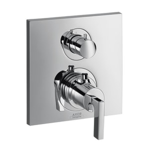 Axor Citterio 7 gpm Thermostatic Volume Control Trim with Diverter and Double Lever Handle AX39720