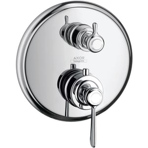 Axor Montreux 6 gpm Thermostatic Trim with Volume Control and Double Lever Handle AX16801