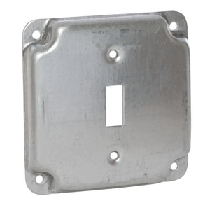 Raco 4-19/100 x 1/2 in. Square Surface Finish Cover with 1 Toggle Switch R800C