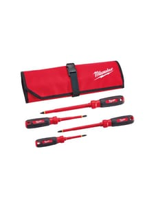 Milwaukee 4-Piece Insulated Screwdriver Set with Pouch M48222204