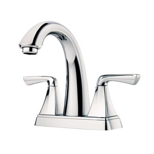 Pfister Selia™ 4 in. Centerset 1.5 gpm Double Lever Handle 3-Hole Lavatory Faucet PF048SLC