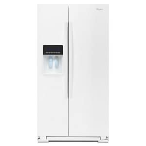 Whirlpool 36 in. 25.6 cf Side-By-Side Refrigerator with Dispenser WWRS576FID