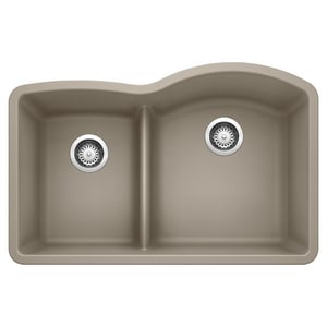 Blanco America Diamond™ 2-Bowl Granite Undermount Kitchen Sink in Truffle B441608