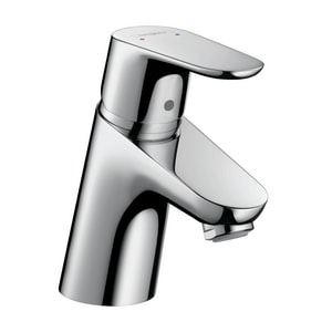 Hansgrohe Focus 1.5 gpm 1-Hole Bathroom Faucet with Cool Start Technology and Single Lever Handle in Polished Chrome (Less Drain Assembly) H31539001
