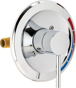 Chicago Faucet Pressure Balancing Tub and Shower Valve Trim in Polished Chrome CSHPB100000