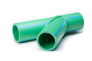 Aquatherm Fusion Straight SDR 11 Plastic and Fusiolen® PP-R 45 Degree Lateral Tee Wye in Green A211312