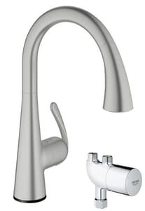 Grohe 1.75 gpm Single Lever Handle Pull-Down Kitchen Faucet G30226