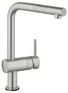Grohe 1.75 gpm Single Lever Handle Pull-Out Kitchen Faucet G30218