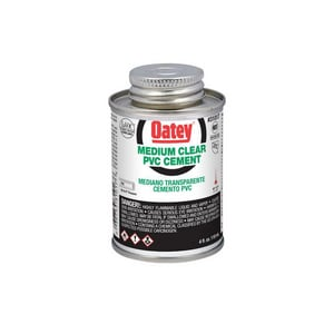 Oatey 4 oz. PVC Medium Body Cement in Clear O31017