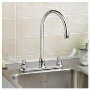 American Standard Monterrey® Gooseneck Faucet with Double Wristblade Handle in Polished Chrome A6409171002