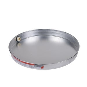 Oatey Aluminum Water Heater Pan with Chrome Fitting O3417